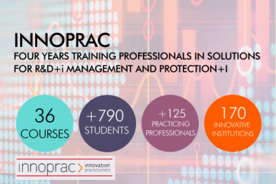 FOUR YEARS TRAINING PROFESSIONALS IN SOLUTIONS FOR R&D+i MANAGEMENT AND PROTECTION